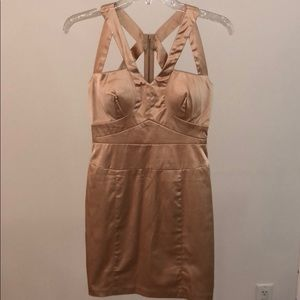 Dresses & Skirts - NWOT Silky Nude Form Fitting Formal Cutout Dress